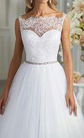 Subtelna suknia ślubna 36 roz