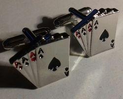 Prezent spinki karty pin up rockabilly poker tarot brydż pasjans talia