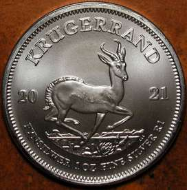 20 x 2021 Sterling Silver Krugerrand B-UNC 1 Ounce