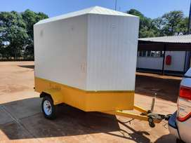 Venter Closed Body Box Trailer