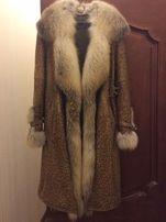 Продаётся кожаное пальто с мехом лесы, купленное в Турции