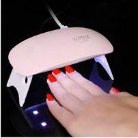 Лампа LED UV 6 W для ногтей маникюра сушки гель лаков Sun mini