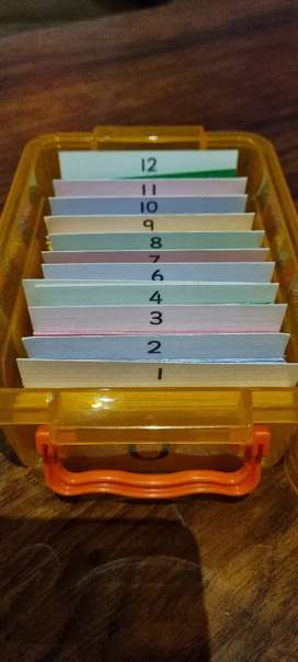 Flashcards Timetables