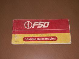 Książka gwarancyjna FSO