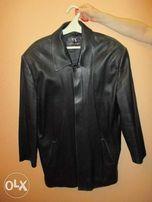 Продам мужскую кожаную куртку разм 52-54 мягкая кожа б/у цвет черный
