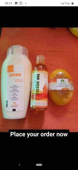 Tissue oil, Soap and Lotion