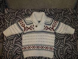 Красивый теплый зимний джемпер свитер на мальчика пол года 0-6 мес 66