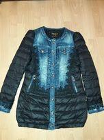 стильная куртка женская джинсовая и на пуху демисезонная,теплая зима