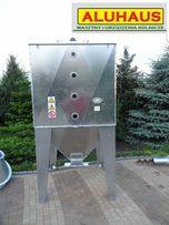 Zbiornik silos pojemnik do paszy zboża pelletu 2000 litrów ocynk