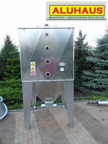 Zbiornik silos pojemnik do paszy zboża pelletu 2000 litrów ocynk Dakowy Suche - image 1