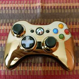 Xbox 360 Chrome Series Limited Edition Gold Controller