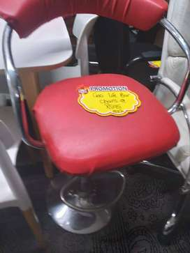 Red Gas lift Bar chairs