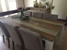 Dining table with six chairs & Console bought by coricraft