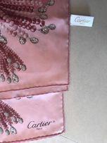 Платок Cartier, шелк саржевого плетения, оригинал!