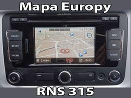 Aktualizacja Nawigacji Mapa Europy V11 VW Skoda RNS310 315 PL Menu