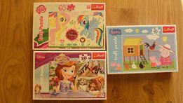 puzzle my little pony, peppa, zosia j. NOWE