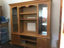 Oak tv/display unit