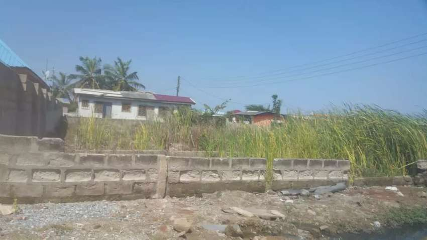 100*60 Almost 1 plot Registered Land with wall at Aplaku (Old Barrier) 0