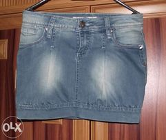 NOWA Spódniczka bombka jeans 36/S + bluzka