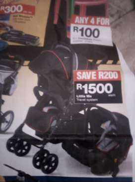 2 in 1 stroller and car seat with camp cot