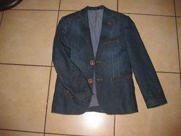 Джинсовый школьный пиджак на парня 9-12 лет