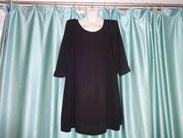 Свободное просторное черное платье блуза блузка туника для беременных