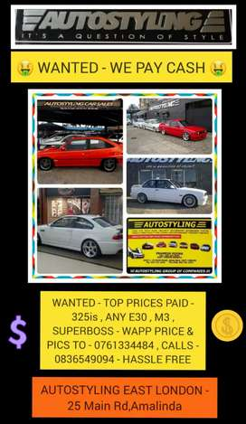 Autostyling East London - Wanted for Cash, Bmw 325is , E30 ,Superboss