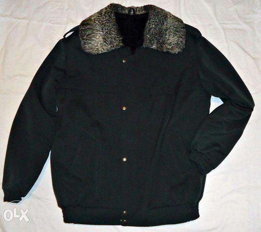 куртка меховая с каракулевым воротником армейская