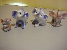 Słoń figurki Słoniki z trąbą do góry 4szt. na szczęście na prezent