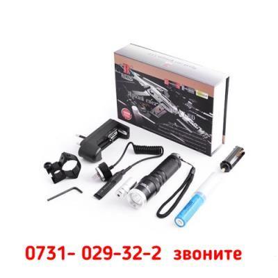 Тактический фонарь POLICE BL 9846 Q5 50000W фонарик + лазер 600 Lumen Киев - изображение 2
