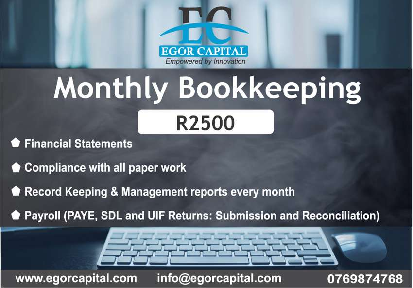 MONTHY BOOKKEEPING AND ACCOUNTING 0