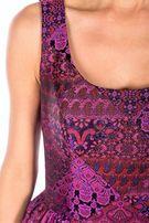 BIALCON rozkloszowana sukienka z podszewką z tiulu 38M studniowka, wes