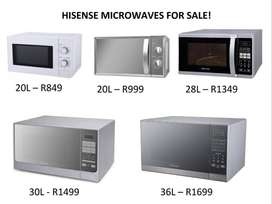 Hisense Microwaves for Sale!