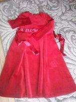 sukienka aksamit czerwień roz 134 by MAROKO