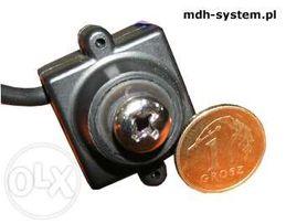 Mini kamera kolorowa 520 linii, 0,1 lux, obiektyw 5,5 mm śrubka, AUDIO