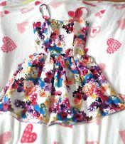 Bawełniana sukienka w kwiatki