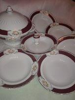 Столовый набор: супница 2,5 л +6 глубоких тарелок СССР