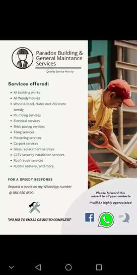 Paradox All in one Building works and handy man services