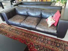 Leather Couches (2 seater and 3 seater)