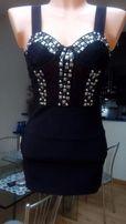 sukienka czarna impreza jak zara
