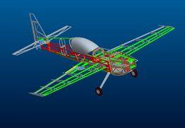 Экстра-300 набор деталей РУ модели пилотажного самолета (Extra-300)