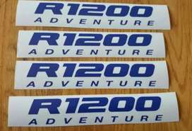 Vinyl cut decals stickers graphics kits for a R1200 Adventure bike.