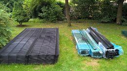 Kompletne ogrodzenie panelowe 150 cm z podmurowka fi 4 mm kolor