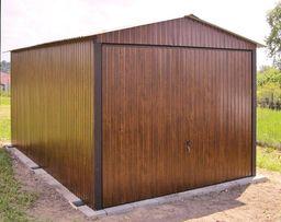 Garaże Blaszane 3x5 Drewnopodobne Premium ORZECH Garaż blaszany