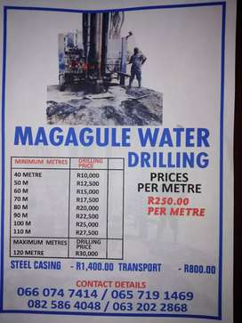 Water drilling
