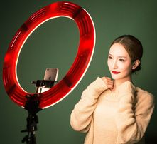 Кольцевая лампа 48 см для блогера, визажиста, фотографа LED 2700-5500K