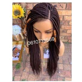 Beautiful brown lace front braid wig