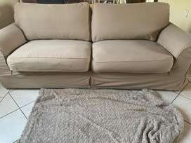 Coricraft 3 seater slip cover couch for sale