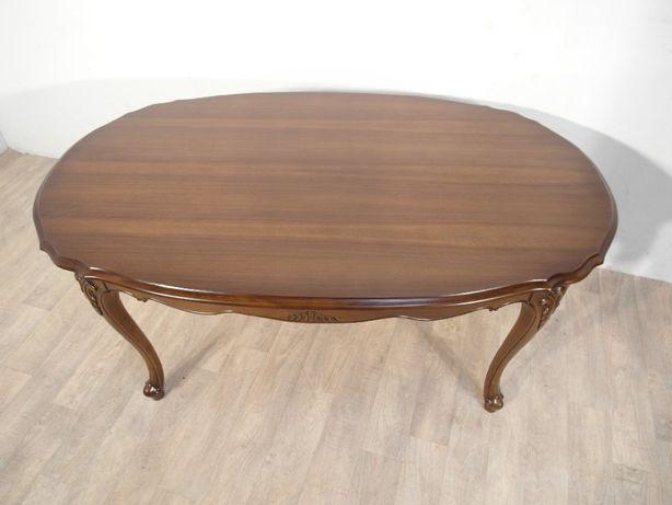 Rzeźbiona stylowa ława, stolik kawowy Ludwik Filip w idealnym stanie ! Łódź - image 5
