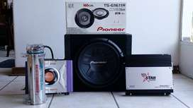 Car audio combo incl 12 inch Pioneer subwoofer